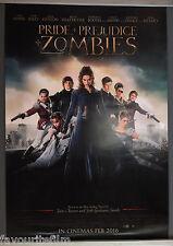 Cinema Poster: PRIDE + PREJUDICE + ZOMBIES 2016 (One Sheet) Matt Smith Sam Riley