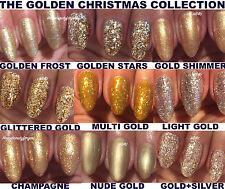 BLUESKY GEL POLISH GOLD GLITTER BLING NAIL UV LED SOAK OFF,ANY 2 GELS=FILE+WIPES