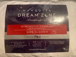 Wamsutta Dream Zone Synthetic Down Side Sleeper Pillow Standard 750 TC