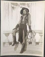 "Vintage 1940's RITA HAYWORTH ""Gilda"" Cowgirl 8X10 Hollywood Pin-up Glamour Photo"