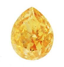 0.34 Carat Fancy Intense Yellow Orange Diamond GIA Certified Natural Color Loose