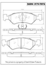 Napa TruStop D170 Semi-Metallic Brake Pads