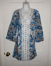 NWT LILLY PULITZER ARIEL BLUE HIPPY HIPPY SHAKE BROOKE TUNIC DRESS M