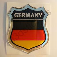 Aufkleber Deutschland Kfz-Aufkleber Deutschland Emblem Flagge 3D Fahne Motorrad