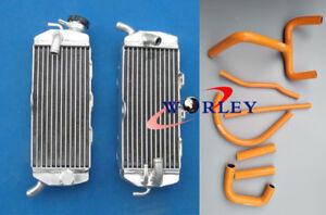 Aluminum radiator + orange silicone hose for KTM LC4 620 625 640 660