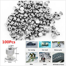 100Pcs Car Tires Studs Screw Snow Spikes Wheel Tyre Snow Chains Studs Kit 8x11mm