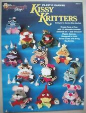 Kissy Kritters plastic canvas pattern 12 animal designs candy treat holders