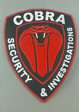 Cobra security and investgations emroidered  iron on /sew on vest patch