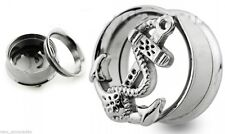 """PAIR-Anchor Fouled Vintage Steel Screw On Tunnels 18mm/11/16"""" Gauge Body Jewelry"""