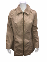 Dennis Basso Zip Front Jacket with Front Pockets & Trim Detail Small Size