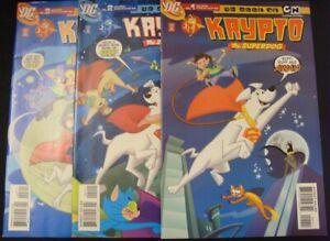 KRYPTO THE SUPERDOG 1-3 DC CARTOON NETWORK COMIC LOT SUPERMAN MCCCANN KU 2006 VF