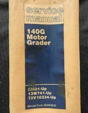 Caterpillar 140g Motor Road Grader Service Manual Serial 5md 13w 72v Very Good