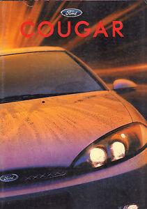 AUTOFOLDER / BROCHURE FORD COUGAR 1998