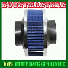 "Universal 2.75"" Performance Cold Air Intake Bypass Filter Valve Pipe Rubber BLUE"
