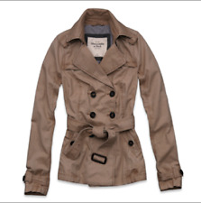 NWT Abercrombie Fitch by Hollister Women Trench Coat Jacket Size M Sold Out