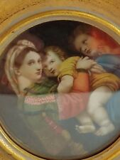 OVAL WOODEN FRAMED Raffaello's Madonna & the Chair Religious Gift Christianity