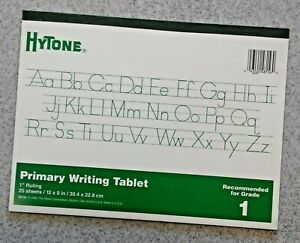 """Mead® Hytone® Primary Writing Tablet 1"""" Ruling on 12"""" × 9"""" Pad 25 Sheets - NEW"""