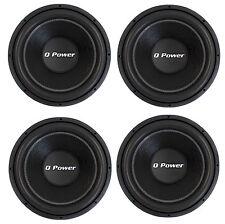 4) Q-POWER QPF15 15 Inch 2200W Deluxe Series DVC Car Audio Power Subwoofers