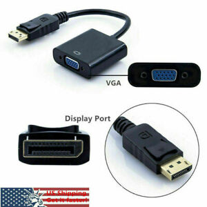 Display Port DP to VGA Adapter Cable cord 1080P laptop desktop Game Monitor A18