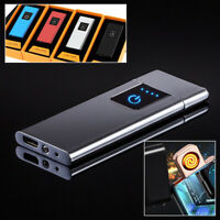 Electric Electronic Lighter Usb Rechargeable Windproof Ultra-Thin Touch Control