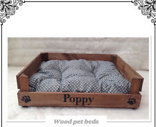 WOOD PET BED CAN BE PERSONALIZED FOR YOUR PUPPY CAT PUG DOG chihuahua PUG