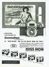 Publicité Advertising 058  1961   Zeiss Ikon appareil photo Contaflex super