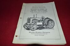 Massey Harris 44 Diesel Tractor Operator's Manual YABE13