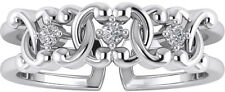 Toe Band Ring Stylish Foot Jewelry Sterling Silver White Round Cut Cz Designer