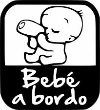 b80 Bebé a bordo Adhesivo Pegatina Vinilo Sticker Cristal niño niña Chapa.