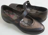 ECCO Womens Size EU 40 US 9 9.5 Brown Gold Mary Jane Flats