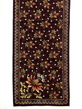 NEW Williams Sonoma Table Runner 18x108 Purple Gold Brown Raspberries