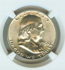 1954-D FRANKLIN SILVER 50 CENTS  NGC MS64