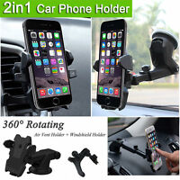 Windshield + Air Vent Mount Car Holder Cradle Universal For All Apple iPhone