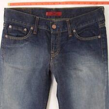 Ladies Womens Levis 557 EVE Straight Blue Jeans W31 L32 UK Size 12