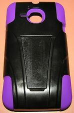 ALCATEL ONETOUCH Evolve Hybrid case with kickstand, purple gel, black shell