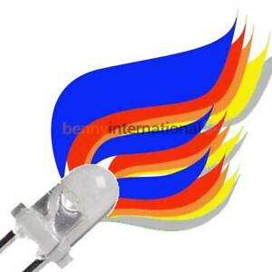10x 3mm FLICKER LEDS Yellow Orange Red Blue White Green Candle Gas Railway Flame