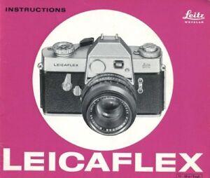 Leicaflex Instruction Manual 1965 First Model Original