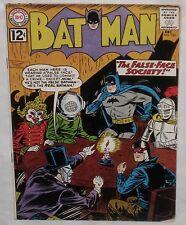 Silver Age  BATMAN #152  The False-Face Society!  VG+ 4.5