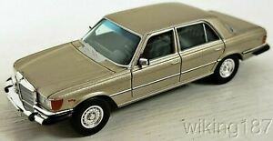 Brekina NEW HO 1/87 Scale Mercedes Benz 450 SEL Sedan in Light Metallic Gold