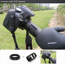 T2 Ring for Canon DSLR EOS Camera Len Adapter+42mm Spotting Scopes Mount Adapter