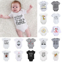 Newborn Infant Baby Boy Girl Cotton Romper Bodysuit Jumpsuit Clothes Outfit Kits
