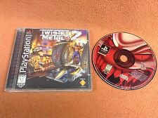 Twisted Metal 2 *Black Label* Playstation PS1 1 PSONE FREE SHIP Complete!