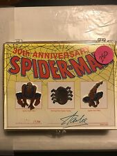 30th Anniversary Spider-Man Pin Set Stan Lee Signed 1189/1500