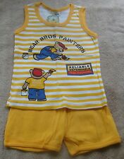 BOYS SIZE 18 MONTHS TEDDY BOOM  SHORTS & TANK TOP OUTFIT NWT