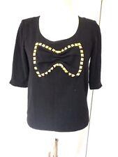 Haut Gat Rimon taille 1  S noir or top chemise modèle darwin