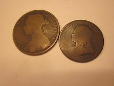 COINS 1800's EUROPEAN COIN SET OF 2 WORLD COLLECTION COLLECTIBLES #408
