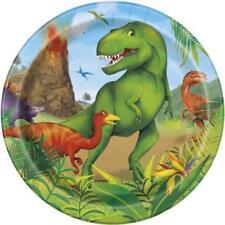 Decoración y menaje de papel para mesas de fiesta de dinosaurios