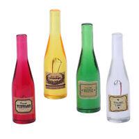 MagiDeal Miniature 4X Wine Bottles Model 1/12 Dollhouse Kitchen Groceries #2