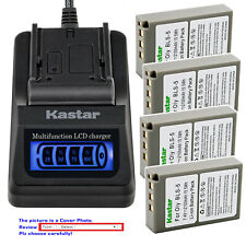 Kastar Battery LCD Quick Charger for Olympus BLS-5 & Olympus E-PM1 EPM1 Camera