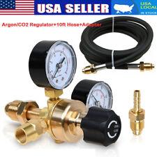 Argon Co2 For Tig Mig Flow Meter Welding Regulator Welder Gauge W 10ft Gas Hose